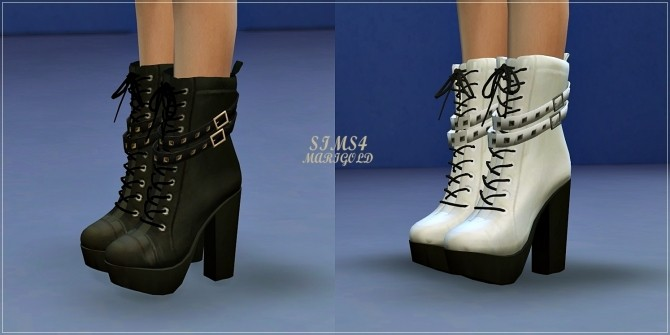 Sims 4 Chunky Stud Leather Boots at Marigold