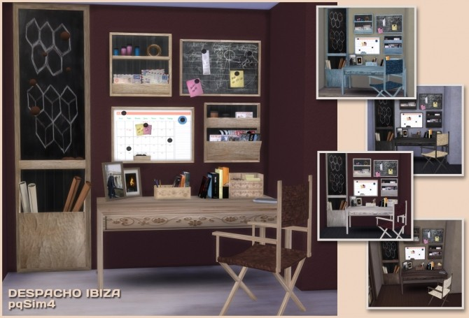 Sims 4 Ibiza Office by Mary Jiménez at pqSims4