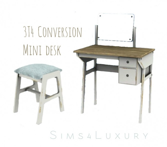 3t4 minidesk conversion at Sims4 Luxury image 22610 670x589 Sims 4 Updates