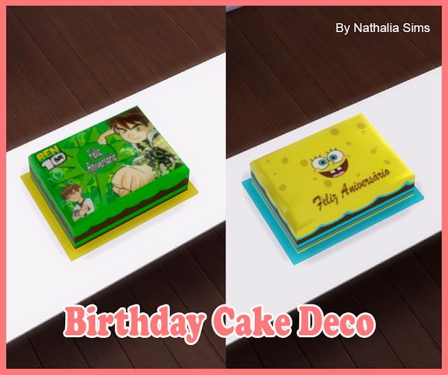Birthday Cake Deco At Nathalia Sims » Sims 4 Updates