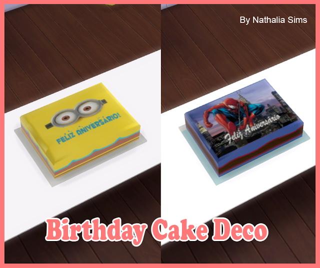 Sims 4 Birthday Cake Deco at Nathalia Sims