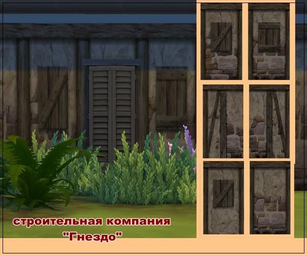Sims 4 Stone beams wallpaper at Sims by Mulena