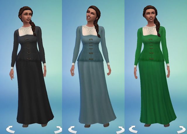 Celtic Dress By Anni K At Historical Sims Life 187 Sims 4