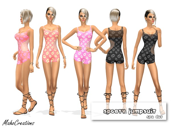 Sporty Jumpsuit by MahoCreations at TSR image 2414 Sims 4 Updates
