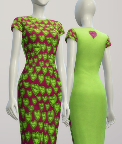 Green heart dress at Rusty Nail image 2435 Sims 4 Updates