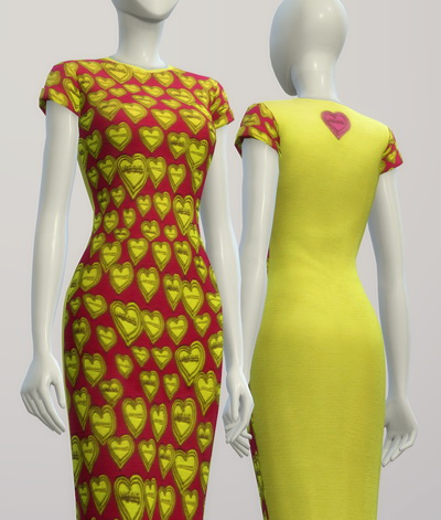 Green heart dress at Rusty Nail image 2445 Sims 4 Updates