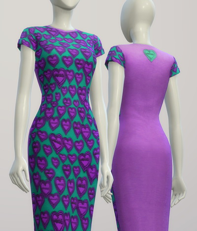 Green heart dress at Rusty Nail image 2465 Sims 4 Updates