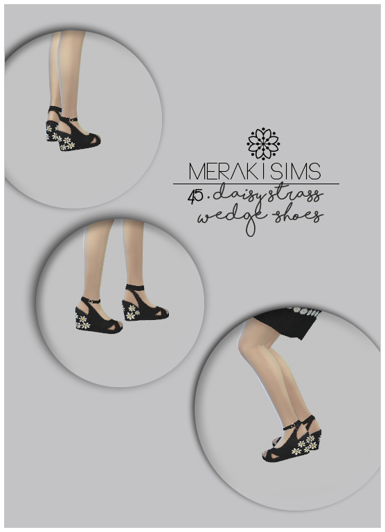 Daisy strass wedge shoes at Merakisims image 2472 Sims 4 Updates