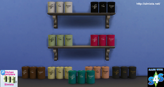 Sims 4 Kitchen Canisters at Simista