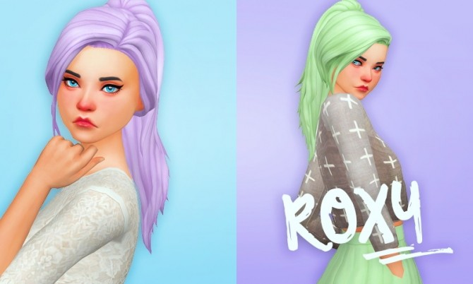 Roxy hair recolors at Holosprite image 2492 670x402 Sims 4 Updates