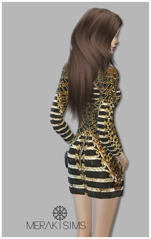 Embellished V neck dress at Merakisims image 2542 Sims 4 Updates
