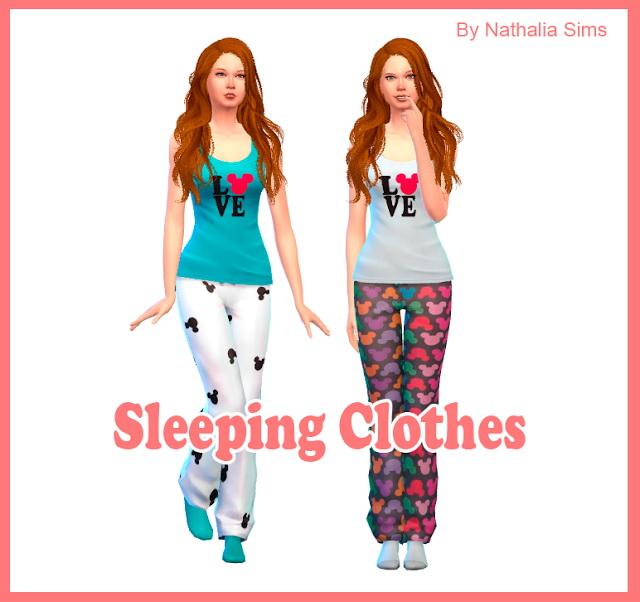 Sleeping Clothes At Nathalia Sims » Sims 4 Updates