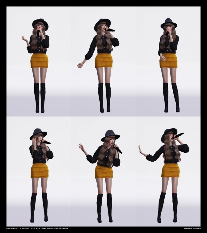 SING FOR YOU Poses collection, pt.2: MIC sets at Flower Chamber image 2587 670x754 Sims 4 Updates