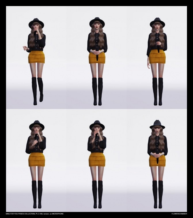 SING FOR YOU Poses collection, pt.2: MIC sets at Flower Chamber image 2597 670x754 Sims 4 Updates