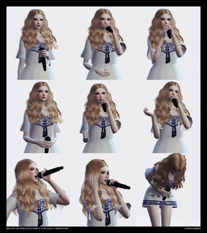 SING FOR YOU Poses collection, pt.2: MIC sets at Flower Chamber image 2607 670x754 Sims 4 Updates