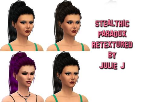 Sims 4 Stealthic Paradox Hair Rextured at Julietoon – Julie J