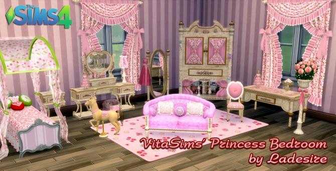 Vitasims Princess Bedroom At Ladesire 187 Sims 4 Updates