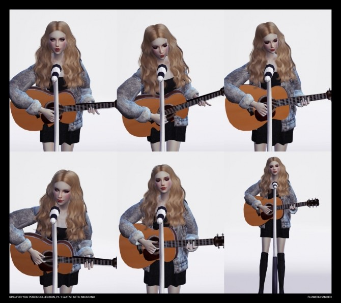 Sing For You Poses Collection Pt 1 Guitar Sets At Flower Chamber 187 Sims 4 Updates