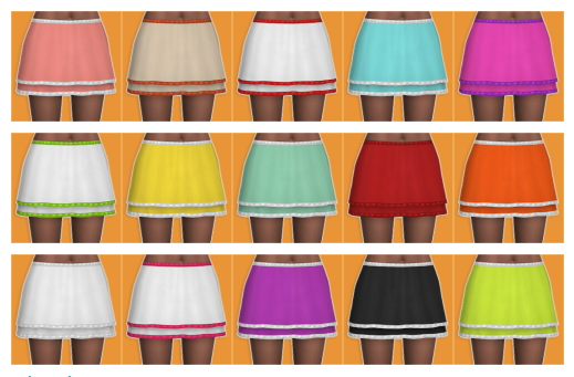 Sims 4 Dakota Skirt at Veranka