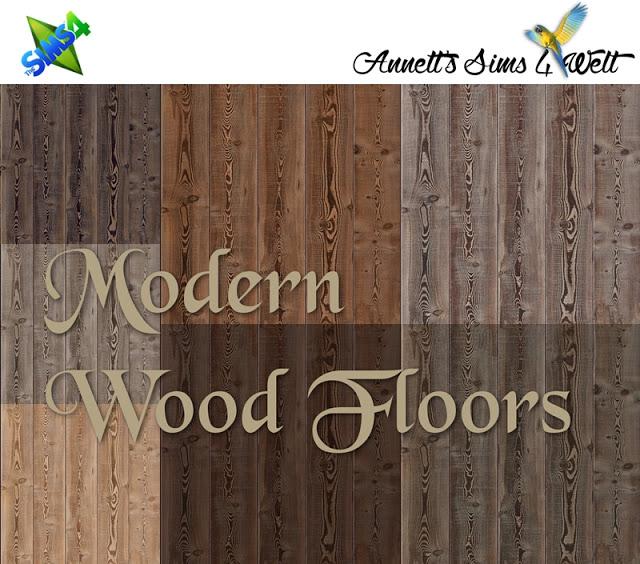 Sims 4 Modern Wood Floors at Annett's Sims 4 Welt