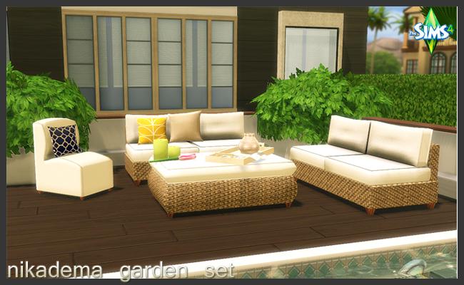 Garden set at nikadema designs sims 4 updates for Garden design sims 4
