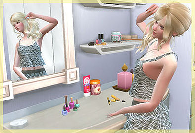 Sims 4 Everyday life series make up poses at A luckyday