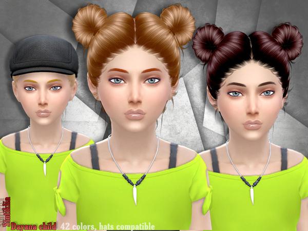Sims 4 Hair Dayana child by Sintiklia at TSR