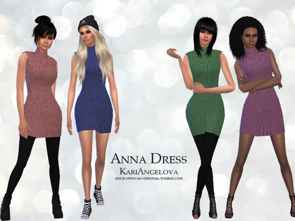 Sims 4 Anna Dress by KariAngelova at TSR