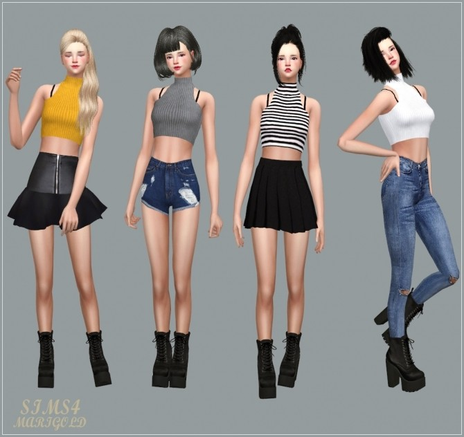 Idol Crop Top at Marigold image 2839 670x632 Sims 4 Updates
