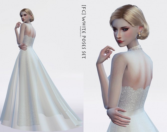White Dress Special Poses At Flower Chamber 187 Sims 4 Updates