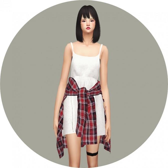 Tied Shirt Dress At Marigold 187 Sims 4 Updates