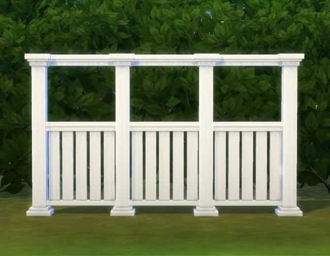 Sims 4 Tasteful Fence by plasticbox at Mod The Sims