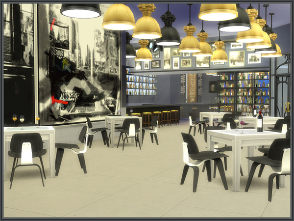 Sims 4 Cafe de Flore by Danuta720 at TSR