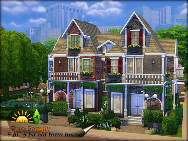 Two Family Old Town House By Solny At Tsr 187 Sims 4 Updates