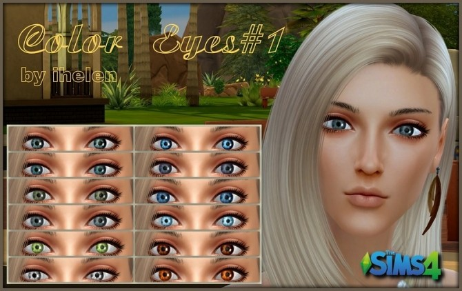 Sims 4 Color Eyes#1 by ihelen at ihelensims
