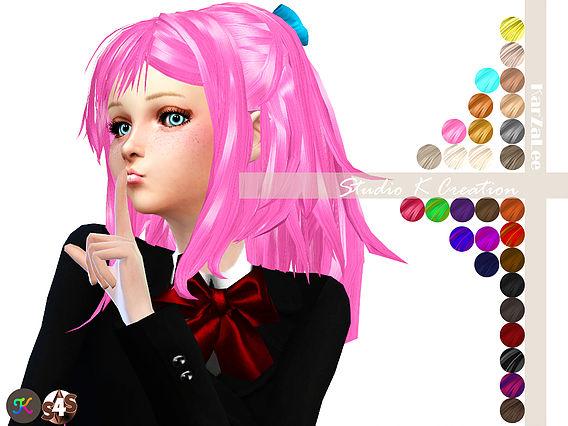 Animate hair 31 Reika at Studio K Creation image 3031 Sims 4 Updates