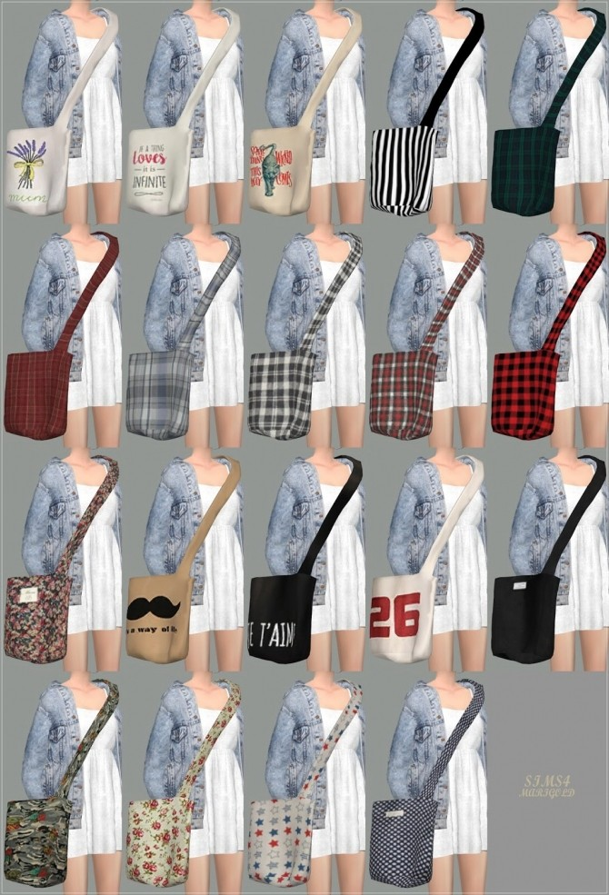 Cross Canvas Bag At Marigold 187 Sims 4 Updates