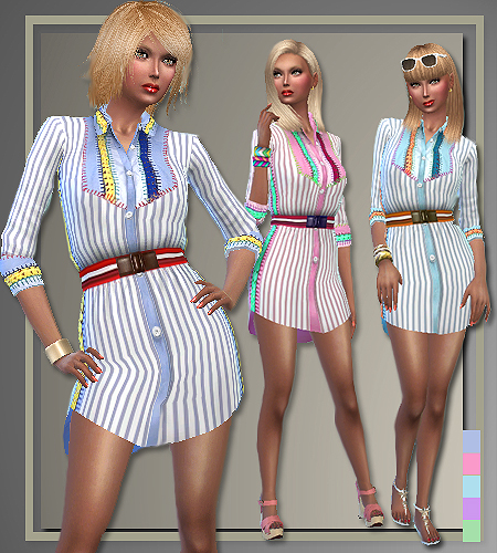 5 outfits T.H. Spring 2016 by Judie at All About Style image 3106 Sims 4 Updates