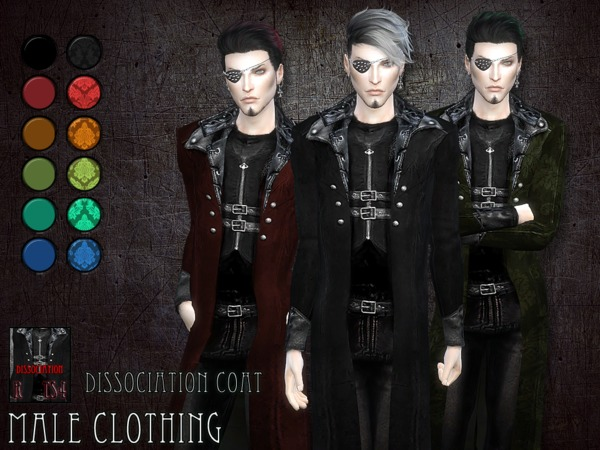 Sims 4 Dissociation coat by RemusSirion at TSR