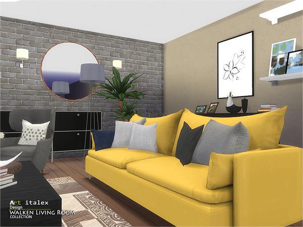 Walken Living Room By Artvitalex At Tsr 187 Sims 4 Updates