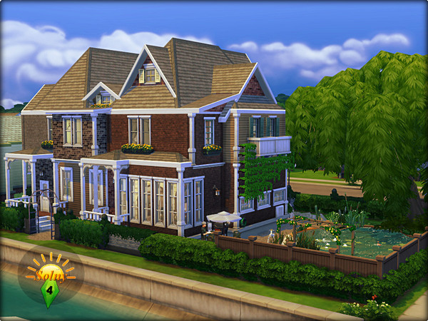 Two family old town house by solny at tsr sims 4 updates for Classic house sims 4
