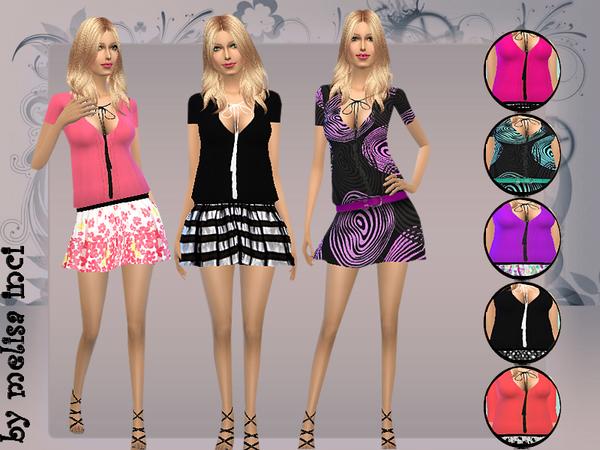 Sims 4 Boho Mini Dress by melisa inci at TSR