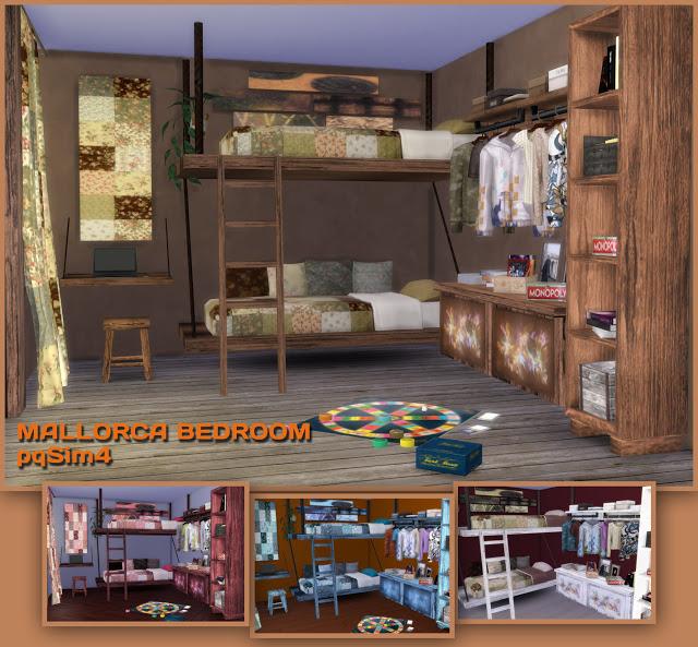Mallorca Bedroom by Mary Jiménez at pqSims4 image 3133 Sims 4 Updates