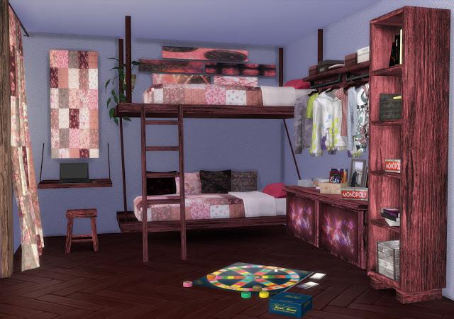 Mallorca Bedroom by Mary Jiménez at pqSims4 image 3163 Sims 4 Updates