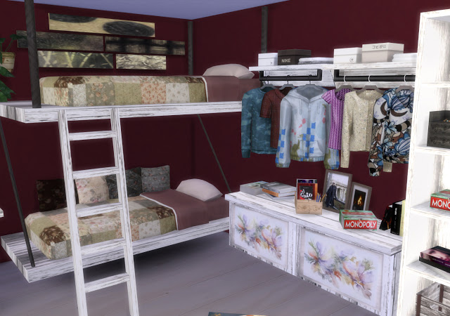 Mallorca Bedroom by Mary Jiménez at pqSims4 image 3216 Sims 4 Updates