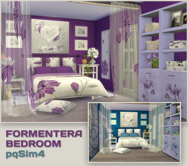 Formentera Bedroom by Mary Jiménez at pqSims4 image 3233 Sims 4 Updates