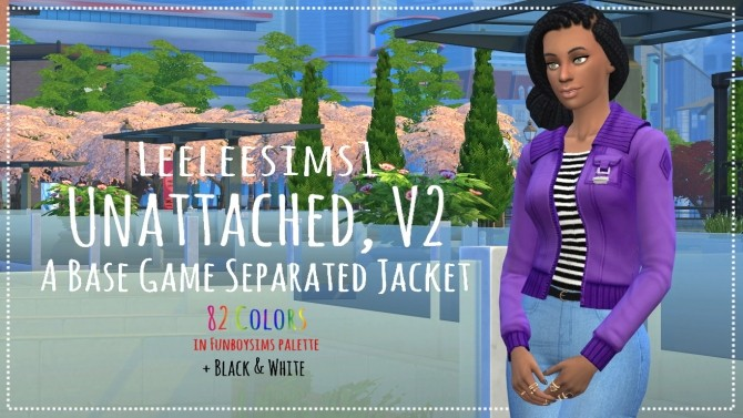 Sims 4 Unattached V2 jacket by leeleesims1 at SimsWorkshop