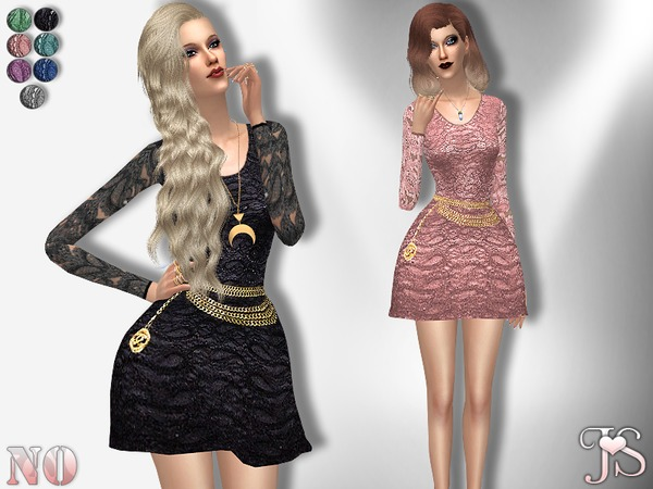N.O Lace Dress by JavaSims at TSR image 3313 Sims 4 Updates