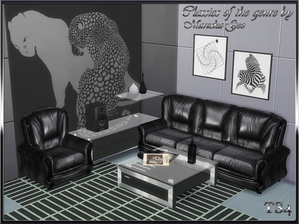 Sims 4 Classics of the genre living by Maruska Geo at TSR