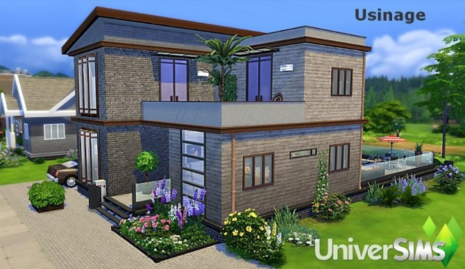 Sims 4 Usinage house by Sirhc59 at L'UniverSims